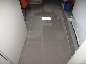Wasser im Kellerwaschraum