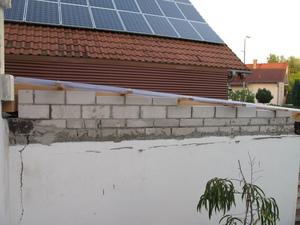 Seitenmauer Terrasse
