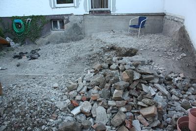 Rückbau Terrasse