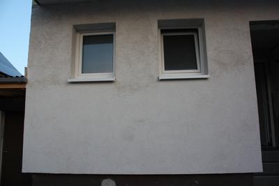 Wand mit Rauputz