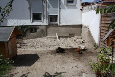 Abgetragene Terrasse