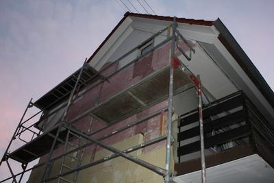 Dämmung der Fassade