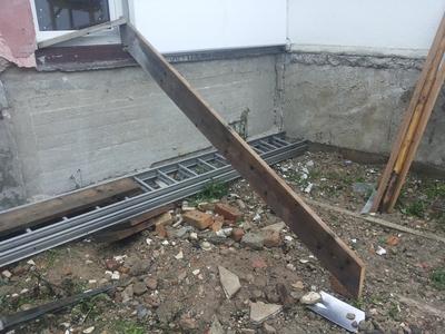 Eigenbau Holztreppe