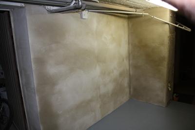 Kellerwand verputzt