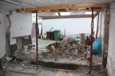 Abriss Wand Werkstatt