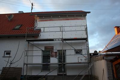 Fassadendämmung Anbau