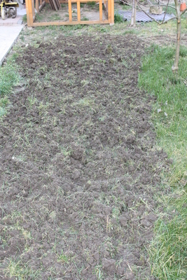 Boden nach Motorfräseneinsatz