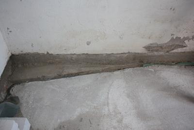 Wand: Vorsprung