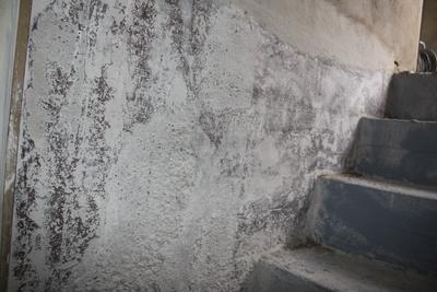 Freigelegte Wandfläche