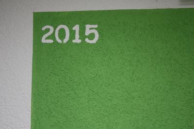 Jahreszahl auf Wandfläche