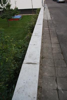 Abschlussplatten Gartenmauer