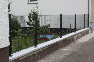 Beliebt Gartenzaun erneuern: Doppelstabmattenzaun montieren – DIY-Workblog.de TR95