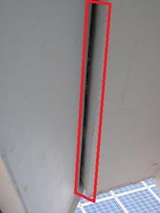 Spalt zwischen Geschossdecke und Dachüberstand