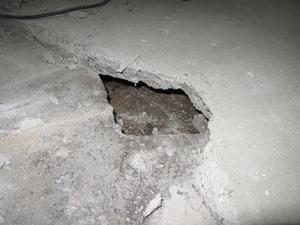 Hobbyraum: Loch im Boden!